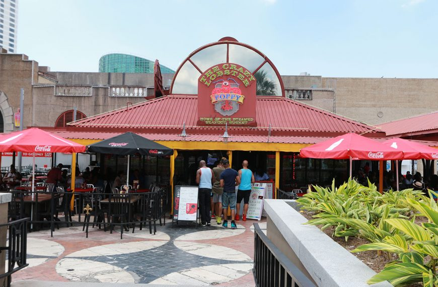 The Crazy Lobster located in Spanish Plaza in New Orleans